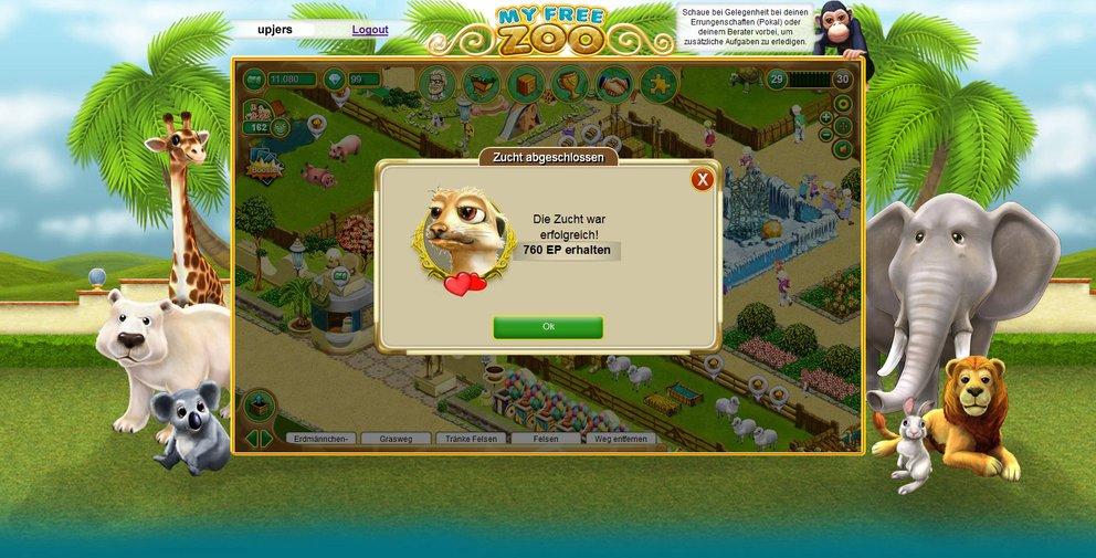 My Free Zoo: Auch als Züchter könnt ihr euch versuchen und so neue Tierarten erhalten.