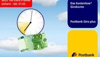 100 Euro Prämie für Neukunden der Postbank: Nur noch heute zwischen 19 und 21 Uhr
