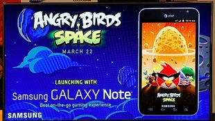 Angry Birds Space auf dem Galaxy Note demonstriert