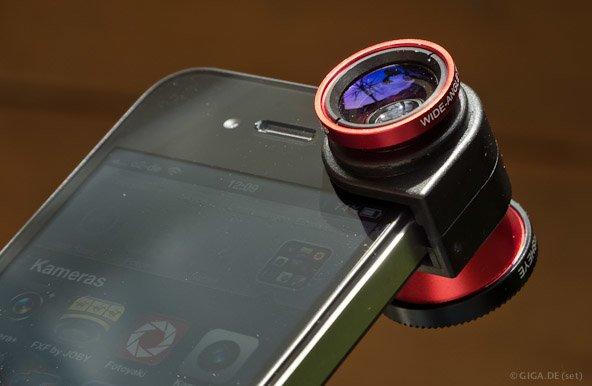 olloclip im Test: Makro-, Fisheye- und Weitwinkelaufsatz für iPhone