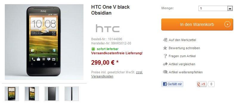HTC One V bei getgoods