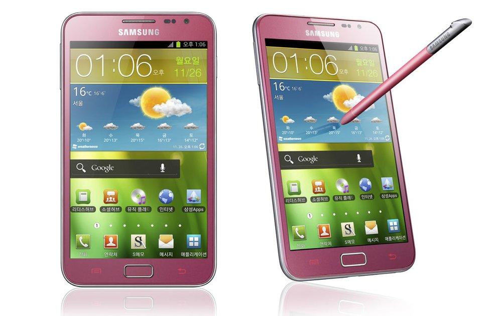Samsung Galaxy Note: Pinke Version mit Android 4.0 für Korea vorgestellt