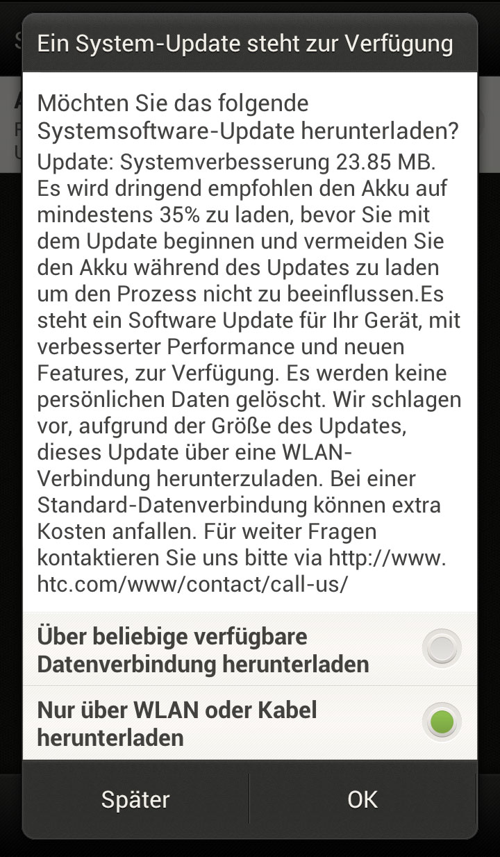 HTC One X OTA-Update