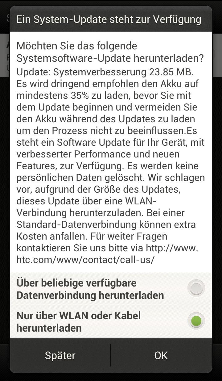 HTC One X OTA-Update