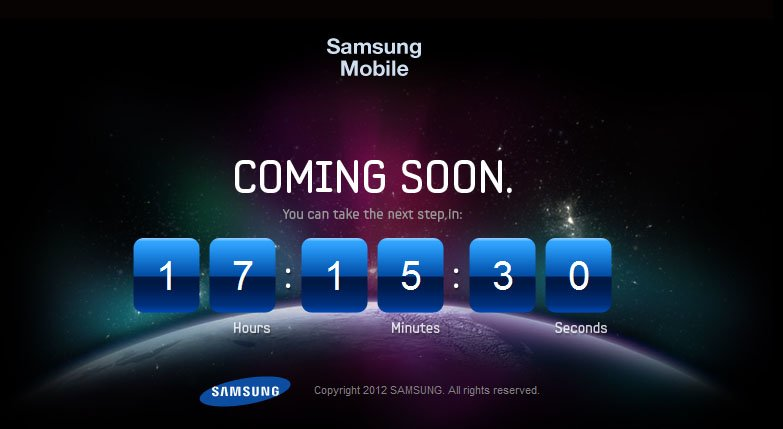 Samsung Galaxy S3: Countdown