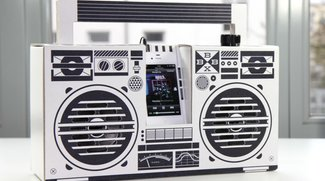Berlin Boombox: iPhone-Ghettoblaster aus Pappe