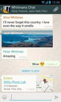 Chat in WhatsApp für Android.