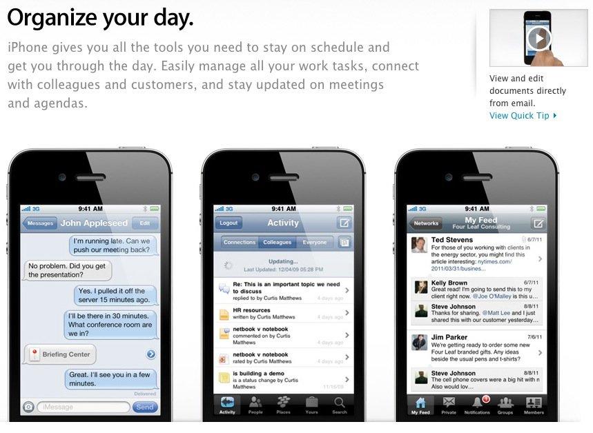 iPhone: Apple stellt neue Informationsseite für Unternehmen ins Netz