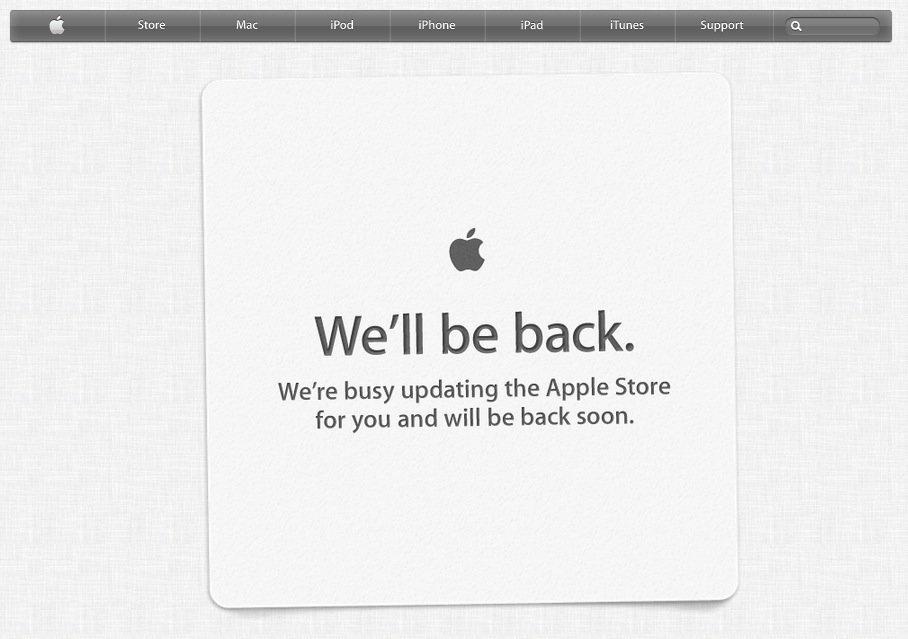 Apple Store ist offline: Vorbote für neues Design?