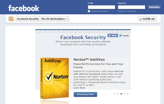 Facebook öffnet Marketplace für Antivirus-Software