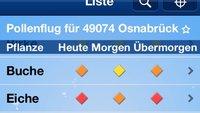 Pollenflug-Vorhersage: Kostenlose App für iPhone im Kurztest
