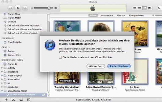 iTunes Match Anleitung: Songs ersetzen, Kopierschutz entfernen