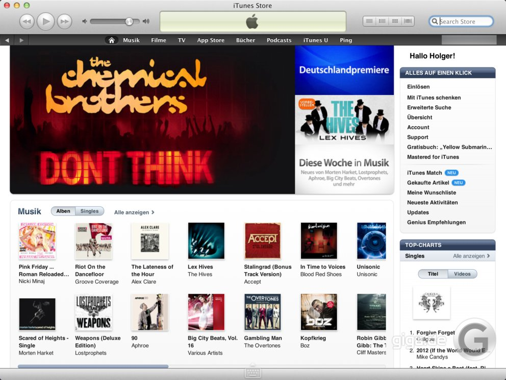 iTunes Store: Klarer Marktführer vor Spotify