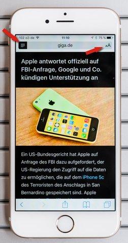 iphone-webseiten-farben-lesemodus
