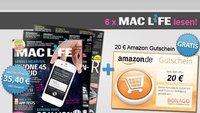 6 Monate Mac Life lesen für 15,40 Euro dank 20 Euro Amazon-Gutschein