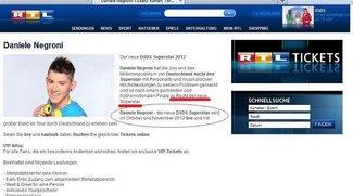 DSDS - RTL kürt Daniele schon zum Superstar/ UPDATE!