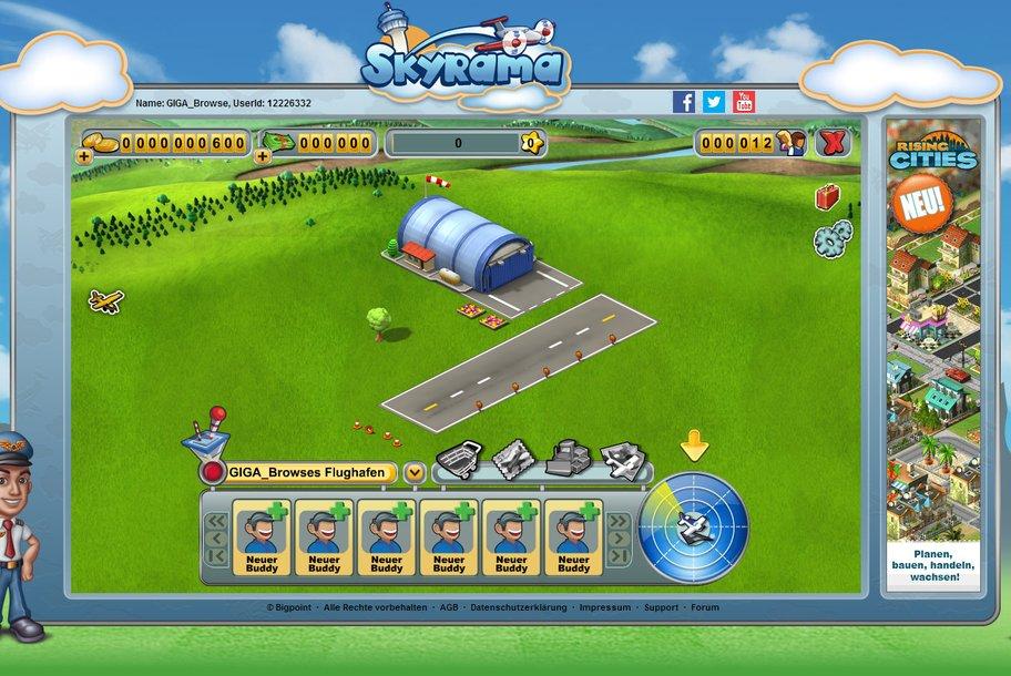 Skyrama: Aller Anfang ist schwer. Ihr startet mit einem klapprigen Kleinstflughafen