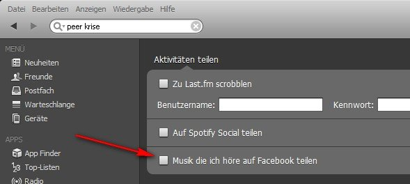 Spotify Facebook ausschalten