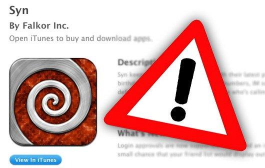 "Warnung vor Spam-App ""Syn"""