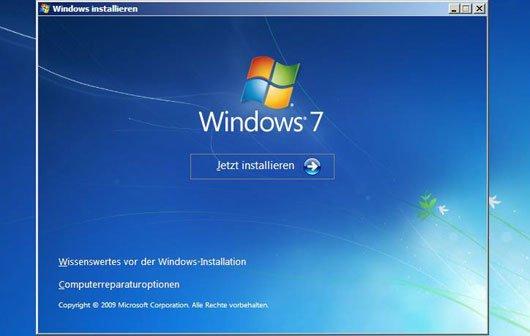 Windows 7 Installation - Schritt für Schritt