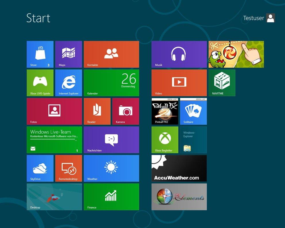 Windows 8 Metro-Bildschirm