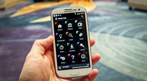 Samsung Galaxy S3 mit Music Hub