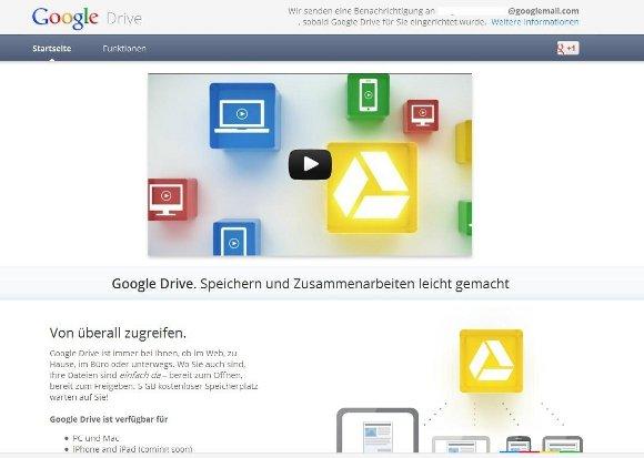 Google Drive Startseite