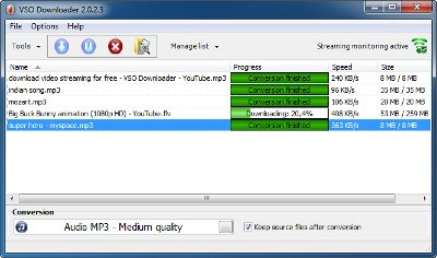 Der VSO Downloader lädt ganz unkompliziert automatisch alle Videos runter, die Sie in ihrem Browser öffnen und anschauen.
