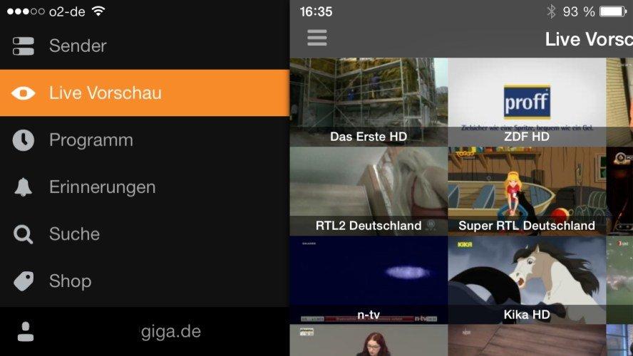 Zattoo iOS-App