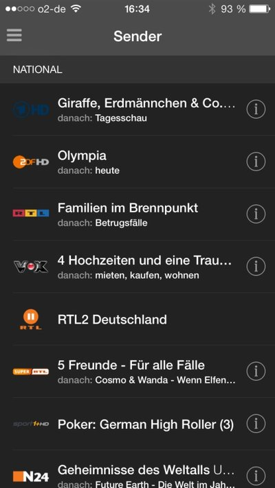Zattoo-App für iPad/iPhone