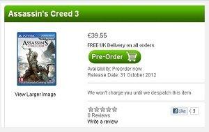 Assassin's Creed 3: Kommt es auch für die Vita?