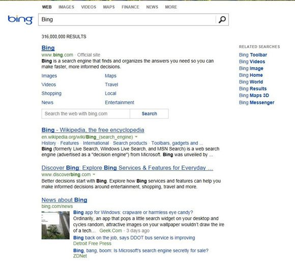 Bing new look