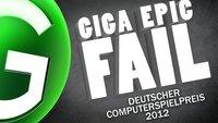 GIGA Epic Fail - Deutscher Computerspielpreis 2012