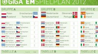 Der GIGA-EM-Spielplan 2012: PDF zum Tippen und Ausdrucken, für Excel und Outlook