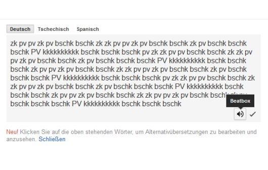 Google Translate beatboxt für Euch