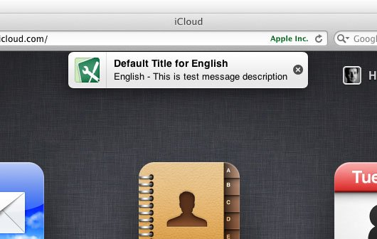 Apple-Tests: Benachrichtigungen im iOS-Stil auf iCloud.com
