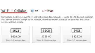 iPad Wi-Fi + 4G jetzt ohne 4G: Namensänderung in einigen Ländern