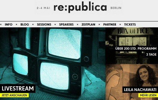 re:publica im Live-Stream: Die Internet-Konferenz mit Sascha Lobo, Steffen Seibert etc.