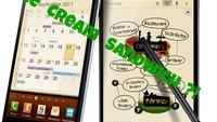 Samsung Galaxy Note mit Original Android 4.0.3 Upgrade im Kurztest