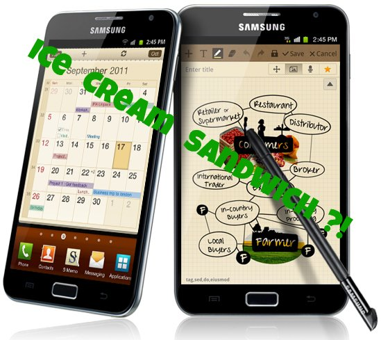 Samsung Galaxy Note Update im Anmarsch