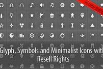 360 Icons, Glyphen und Symbole mit Wiederverkaufsrecht für 5 Euro