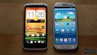 Samsung Galaxy S3 vs. HTC One X: Zwei Riesen im Videovergleich