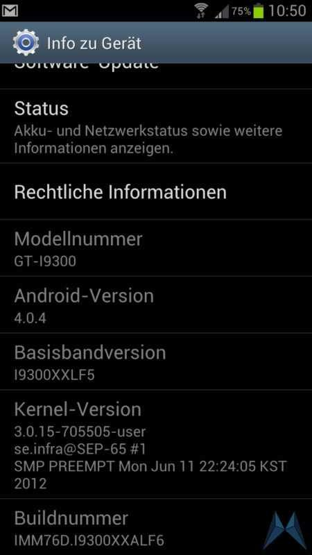 Samsung Galaxy S3 Software-Update