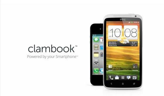 ClamBook - Ein Notebook aus (fast) jedem Handy machen
