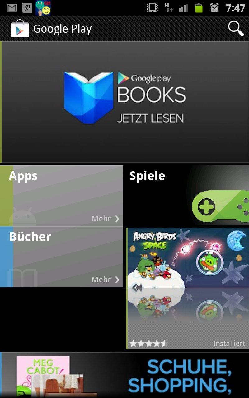 Google Play Store ab sofort mit Büchern