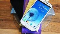 Samsung Galaxy S3 vs. Tafel Schokolade