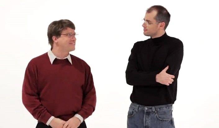 Steve Jobs vs. Bill Gates: Nerds im iTunes Store