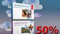 Adobe Photoshop und Premiere Elements: 50 Prozent Ermäßigung