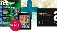 3 Monate c't als Print- und Digital-Ausgabe für effektiv 5,20 Euro dank Amazon-Gutschein