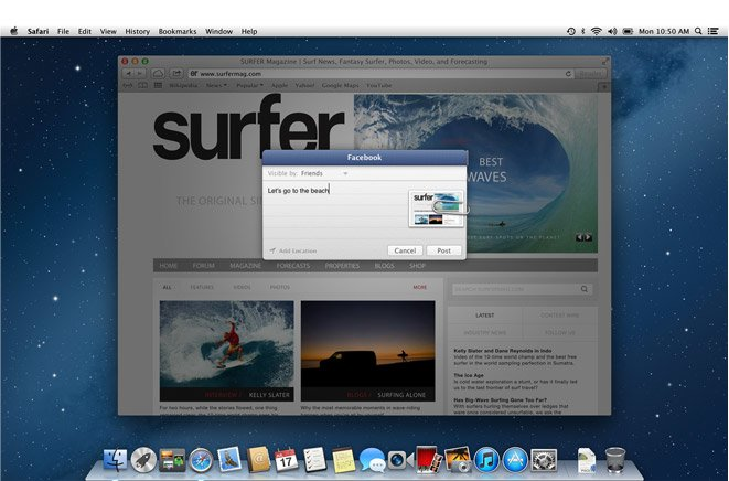 Mountain Lion: Facebook-Integration kommt im Herbst